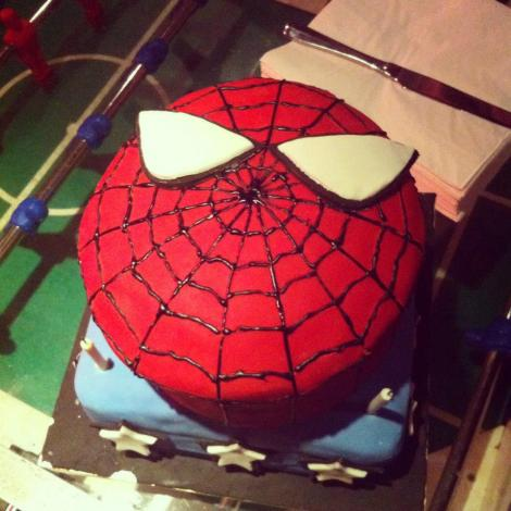 You're never to old for a Spider-Man cake!