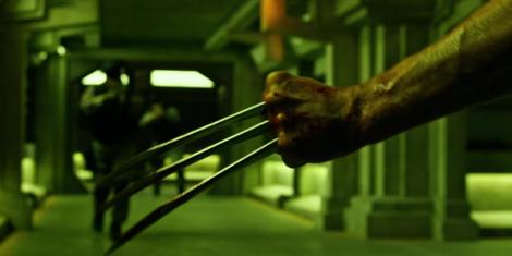 Wolverine (Hugh Jackman) gets stabby.